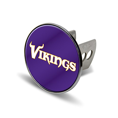 NFL Minnesota Vikings Laser Cut Metal Hitch Cover, Large, Silver