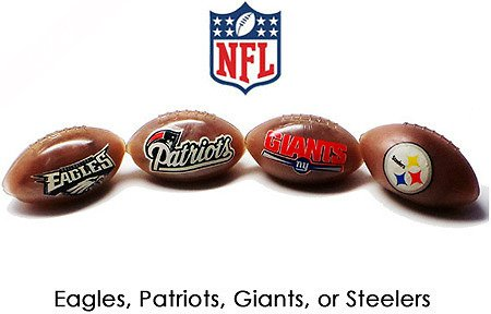 Official NFL Squishy Football Stress Relief Toy (Patriots)]()