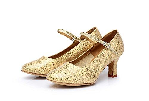 UK6 latino amicizia per CN40 5 scarpe morbido EU39 di da ballo donna cm da ballo fondo con moderne ShangYi altezza Scarpe da ballo adulti paillettes scarpe da 5 qHW74