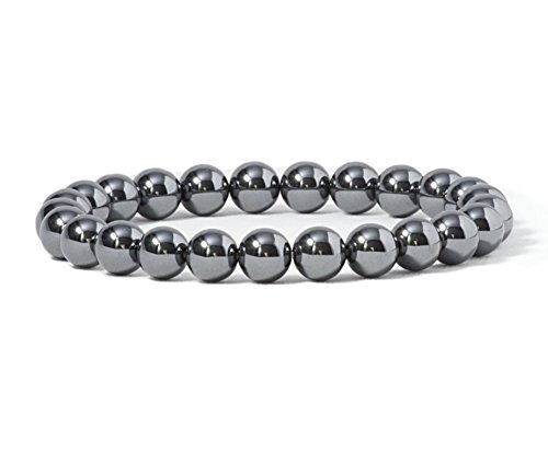 (Cherry Tree Collection Gemstone Beaded Stretch Bracelet 8mm Round Beads 7