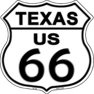 Texas Route 66 Highway Shield Metal Sign HS-108
