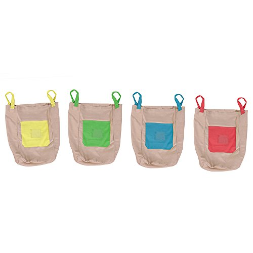 Play Sack - Pacific Play Tents Cotton Canvas Jumping Sacks - Set of 4 bags, 26