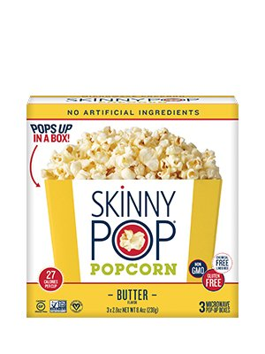 Skinny Pop Microwave Butter Popcorn 8.4 oz (Pack of 3)