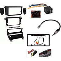 Metra 95-9310B ISO Double DIN Dash Kit for 1999 - 2006 BMW 3-Series w/ 5-Switch Panel and M3 Vehicles + Wiring Harness Antenna Adapter And Cache Backup License Plate Camera