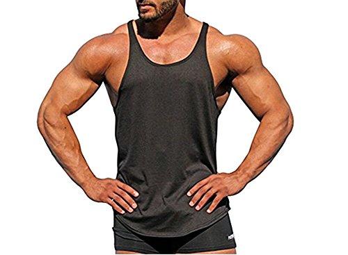 TheFound Mens Y Back Stringer Bodybuilding Tank Top Gym Vest