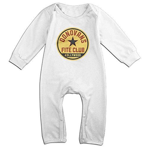 Momo Ray Donovan Fite Club Toddler Infant Romper Jumpsuit 6 M White
