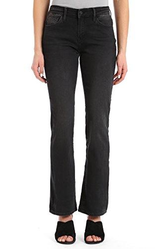 (Mavi Women's Molly Mid-Rise Classic Bootcut Jeans, Dark Smoke Supersoft 30 X 34)
