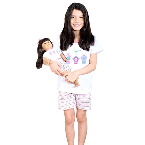 b5ddc67eed72 Amazon.com: Girl and Doll Matching Outfit Clothes - Shorts and Shirt Set  for Girl & Doll - Fits American Girl Dolls: Clothing