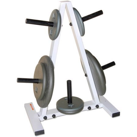 CAP Barbell* 300lb Weight Capacity 1-Inch Standar Plate Tree Rack in Black/White by CAP Barbell*