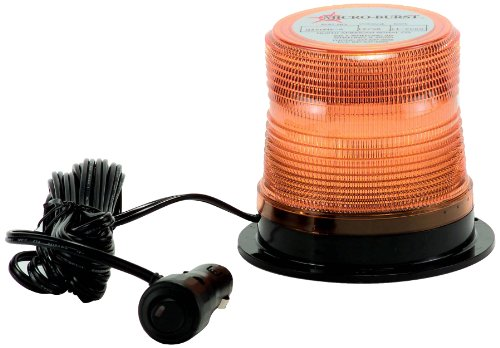 North American Signal LEDQ375MX-A Class 1 LED Beacon with Magnetic Mount, 12/24V, Amber by North American Signal