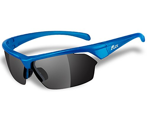 Velocity High Protection - Flux Sports Sunglasses: RAINIER Special Ops Sunglasses with Polarized Lenses, Anti-Glare and Anti-Peeling Technology with High Impact Velocity Protection | Great for Active Sports, Field Training and