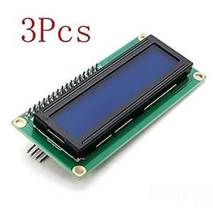 mark8shop 3pcs IIC/I2C 1602retroiluminación azul Módulo de pantalla LCD para Arduino