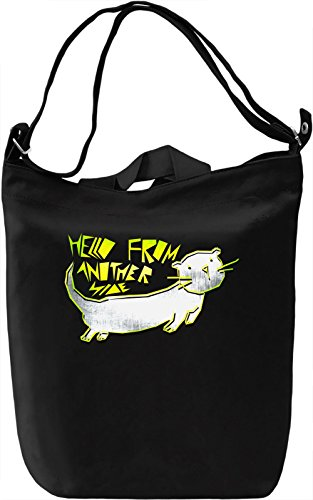 Hello From Another Side Borsa Giornaliera Canvas Canvas Day Bag| 100% Premium Cotton Canvas| DTG Printing|