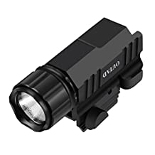 OUTAD Pistol & Rifle Flashlight 500 Lumen Cree LED Strobe with Picatinny Quick Release IPX7 Waterproof for Hiking, Camping, Hunting and Other Indoor/Outdoor Activities