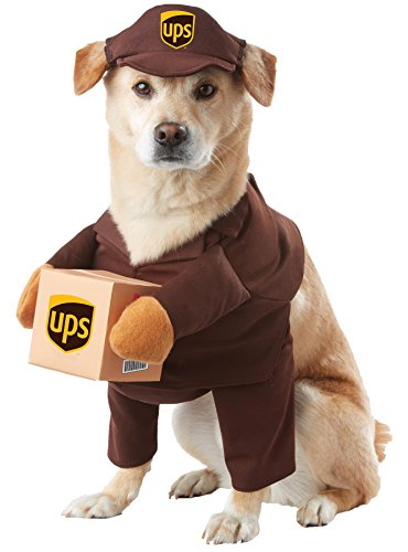 UHC UPS Pal Outfit Funny Theme Puppy Fancy Dress Halloween Pet Dog Costume, -