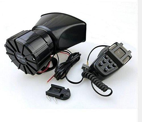 80 Watt Mic Pa Amplifier (Bolaxin 12v 80w 7 Tone Sound Car Siren Vehicle Horn Car Siren Speaker & Mic Pa Speaker System Emergency Sound Amplifier with Bonus--extra Extending Wires)