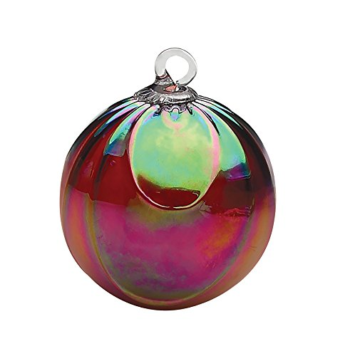 (Glass Eye Studios Classic Ruby Draped Ornament)