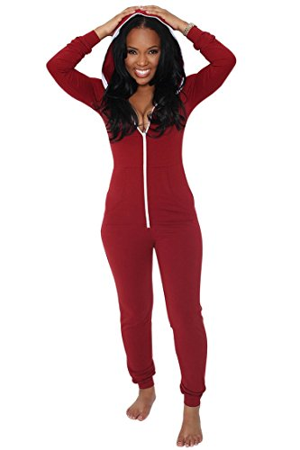 Casual Sports Aro Red Up Bodycon Jumpsuits Romper Lora Jumpsuits Hooded Zip Women's tqgRIg
