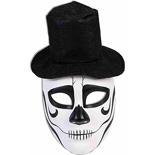 Day of the Dead Formal Skull Mask with Hat