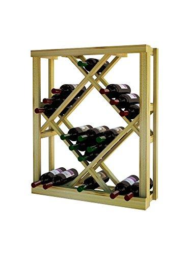 Unstained Diamond Bin (Wine Cellar Innovations RP-UN-ODIAM-A3 Traditional Series Open Diamond Bin Wine Rack, Rustic Pine, Unstained)