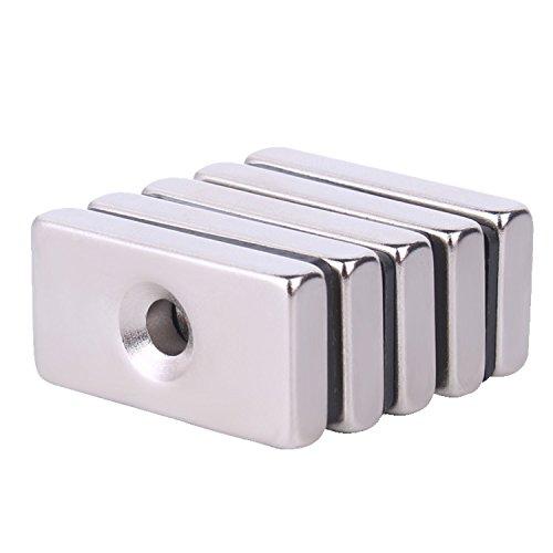 L-anan Neodymium Bar Magnets, 10 Pack Super Powerful Fridge Magnet 30x15x5MM Rare Earth Magnet