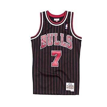 Mitchell & Ness Toni kukoc # 7 Chicago Bulls 1995 – 96 Swingman NBA Camiseta Pinstripe