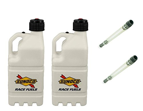 2-pack-sunoco-5-gallon-white-race-utility-jugs-and-2-deluxe-filler-hoses