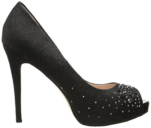 FABULICIOUS , Sandales pour femme Blk Shimmer Fabric 2 UK