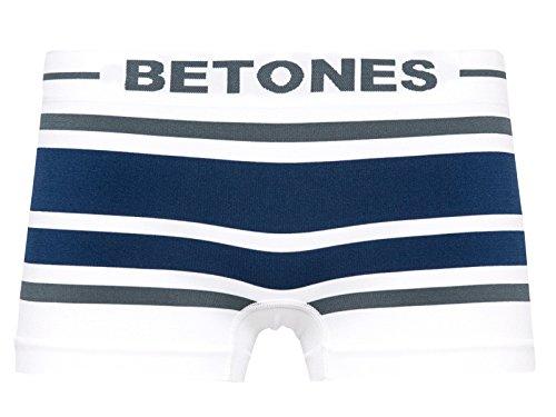 そのような発揮する指(ビトーンズ)BETONES AKER2 アケル2/DグレーxDブルー レディースボクサーパンツ