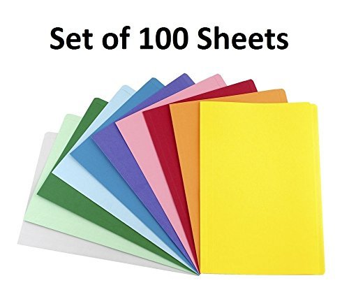Zap Impex® Premium Pack of 100 Sheets Smooth Finish A4 Size Assorted Colors Copy Copier Printing Papers - Home, School, Office Stationery