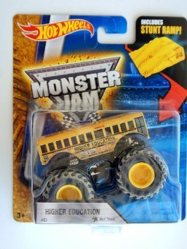 Hot Wheels 1:64 Monster Jam Higher Education With Mud Treads #03 Includes Stunt Ramp (Hot Wheels Monster Jam Trucks 1 64)