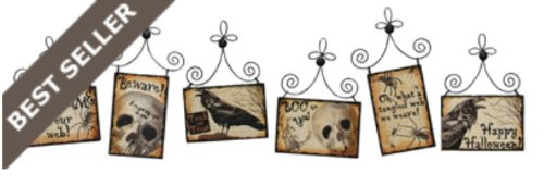 Spooky Halloween Postcard Pictures-Primitives by Kathy