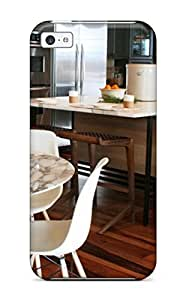 Awesome Contemporary Gray Kitchen With Eat-in Island Amp Hardwood Floors Flip Case With Fashion Design For Iphone 5c