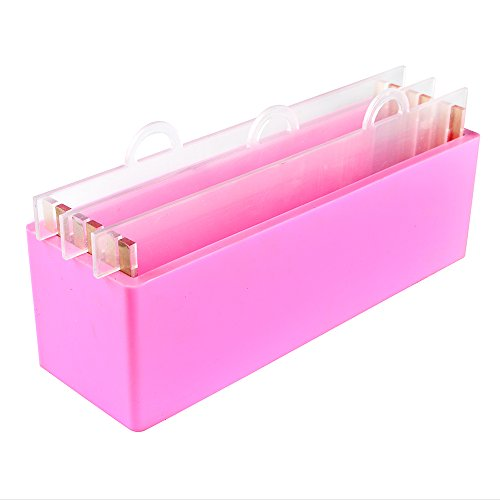 Nicole Rectangular Silicone Soap Mold with Transparent Vertical Acrylic Clapboard Handmade Loaf Toast Swirl Soap Making Tool Mould