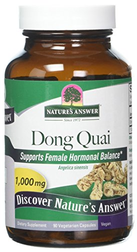 Natures Answer 1000 Mg Dong Quai Root - 90 Vegetarian Capsules per Pack - 1 Each.