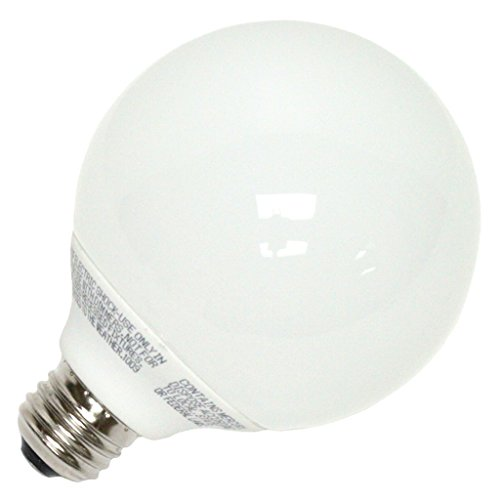 Globe Compact Fluorescent Light Bulb - LongStar 00270 - FE-G30A-15W/50K Globe Screw Base Compact Fluorescent Light Bulb