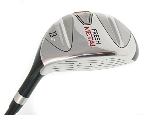 Founders Club Fresh Metal 13 Fairway Wood with Graphite Shaft and Head Cover (30 Degrees, Regular)