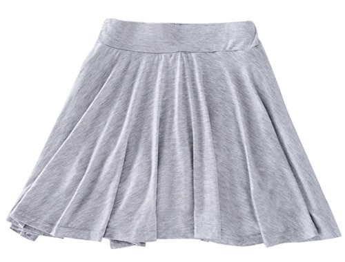 Chouyatou Women's Stretchy A-line Plus Size Skater Skirt Inner Shorts (XX-Large, Gray) (Short Gray Skirt)