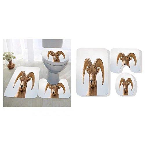 Anatoly Pastouchenko three-piece toilet seat pad custom close up head shot of a big horn sheep ram looking at - Big Custom Head