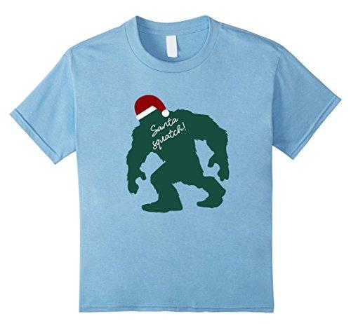 Geeky Halloween Costumes For Babies (Kids Funny Bigfoot Santasquatch Shirt, Fun Christmas Gift Shirts 6 Baby Blue)