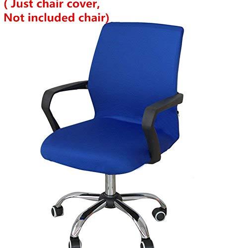 Funda para silla de oficina, repuesto universal para silla giratoria con reposabrazos, extraible, ajustable, azul, Small