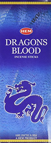 Hem Dragons Blood Blue, 120 Sticks Box - incensecentral.us