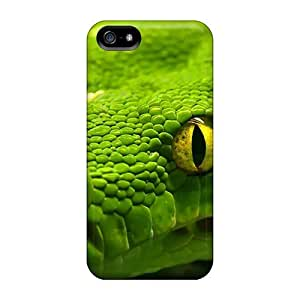 5/5s Scratch-proof Protection Cases Covers For Iphone/ Hot Green Anaconda Phone Cases
