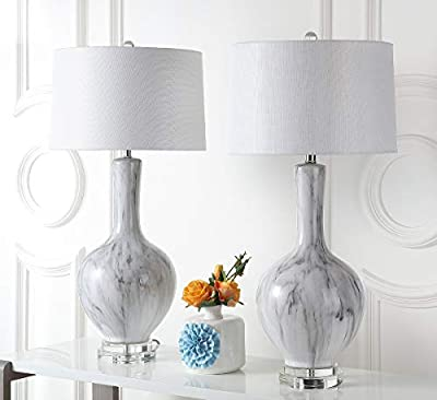 Safavieh TBL4061A-SET2 Lighting Collection Griffith White and Grey Table Lamp