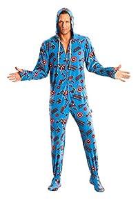 Captain America Adult Footed Hooded Pajama Onesie