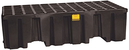 Eagle 1620BND Black 2 Drum Containment Pallet without Drain by Eagle