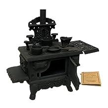 IWGAC 0166-10126 Old Mountain Black Mini Wood Cook Stove