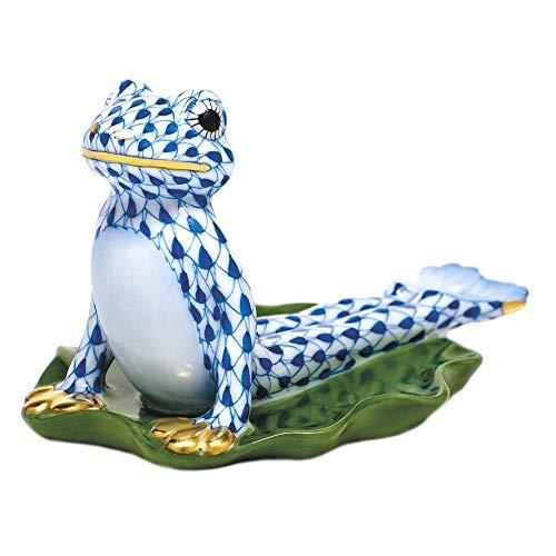 Amazon.com: Herend - Figura de rana de yoga con diseño de ...