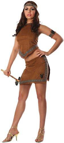 Playmate Costumes (Playboy Native Playmate Costume, Brown, Medium)