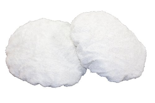 WEN 6010A42 Terry Cloth Polishing Bonnets, 6-Inch, 2-Pack